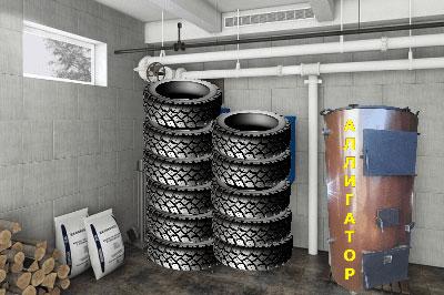пиролизный котел утилизатор 'Аллигатор 70 кВт'